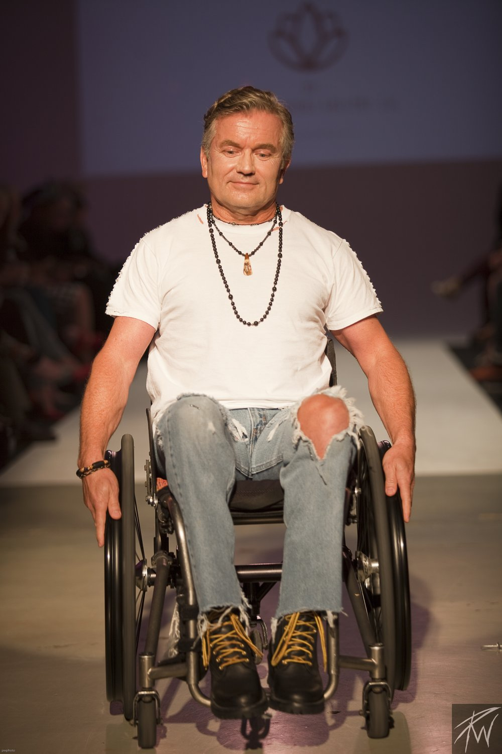 Arne Roaldsand Wearing Sue Surdi Designs Jewelry