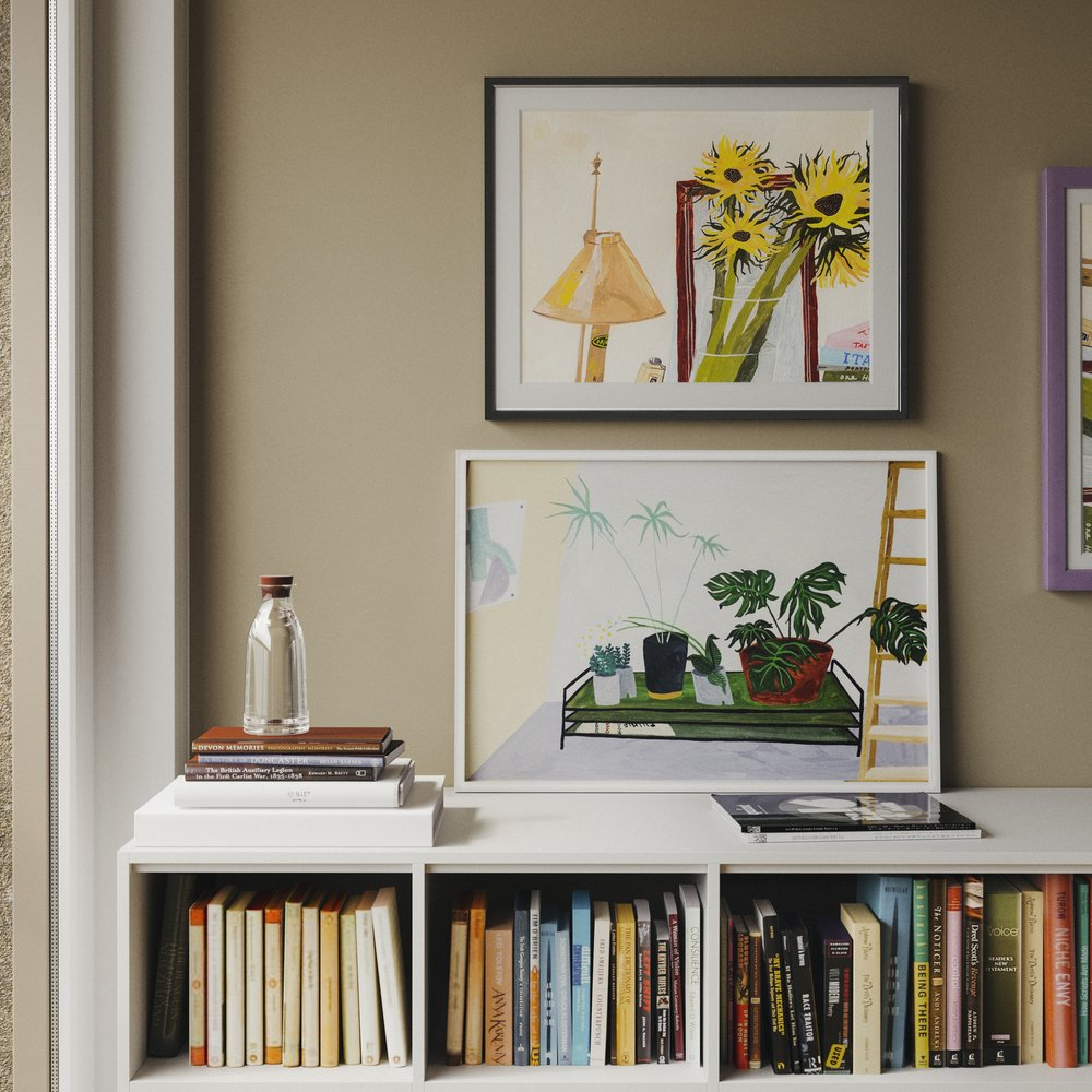Modern Interior with Liz Rowland Illustrations