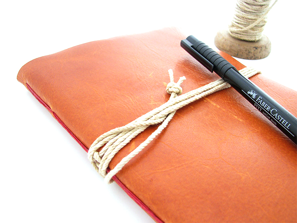 Vintage Rustic Leather notebook by Ali Manning