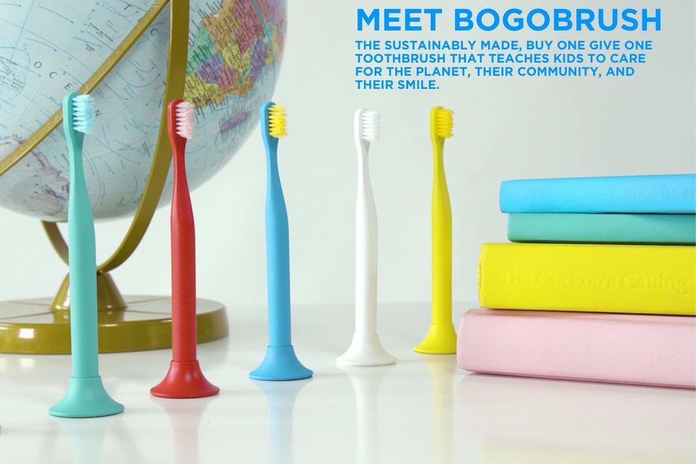 Bogobrush Family Pack KICKSTARTER PRICE    2 Kid's Brushes, 2 Adult Brushes, 4 Stands, 2 Brush Capes, 1 Book    PRICE - $60