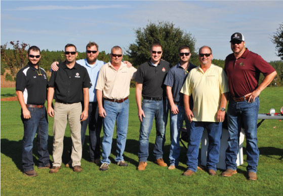 Pictured above are (Left to Right): Jordan Willingham, Jon Slagle, David Lindsay, Jamie Winegarden, Steve Meiners, Chris Chick, Glen Chick, and Gabe Edwards.