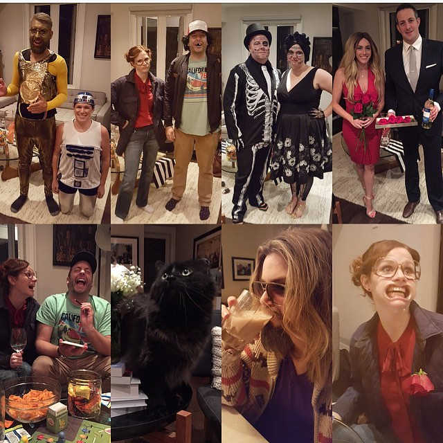 Hosted a lil get together... That was a fun night!! 💀🎃🌙🔪 #halloween #starwars #strangerthings #skeletons #bacheloretteca