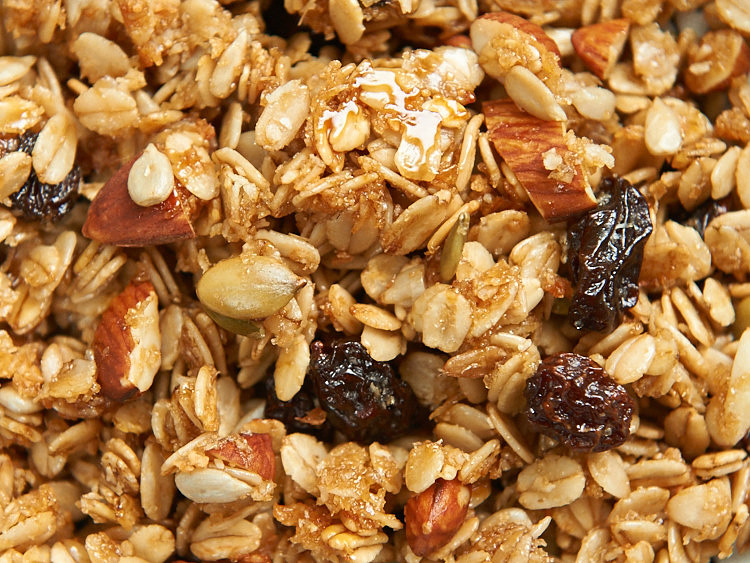 Oats, raisins, almonds and a whole lot more...