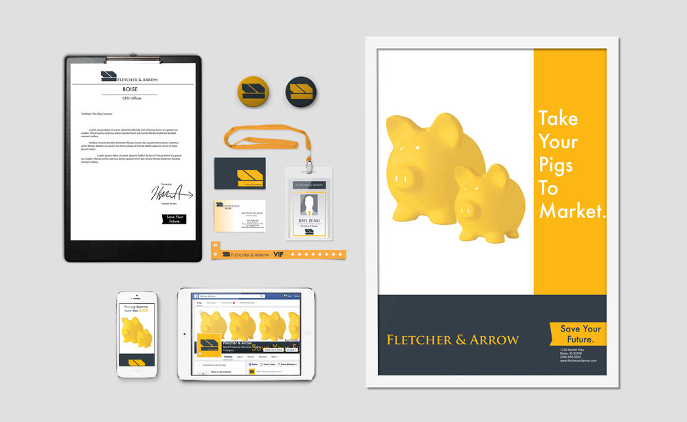 Fletcher & Arrow Marketing Examples Mockup