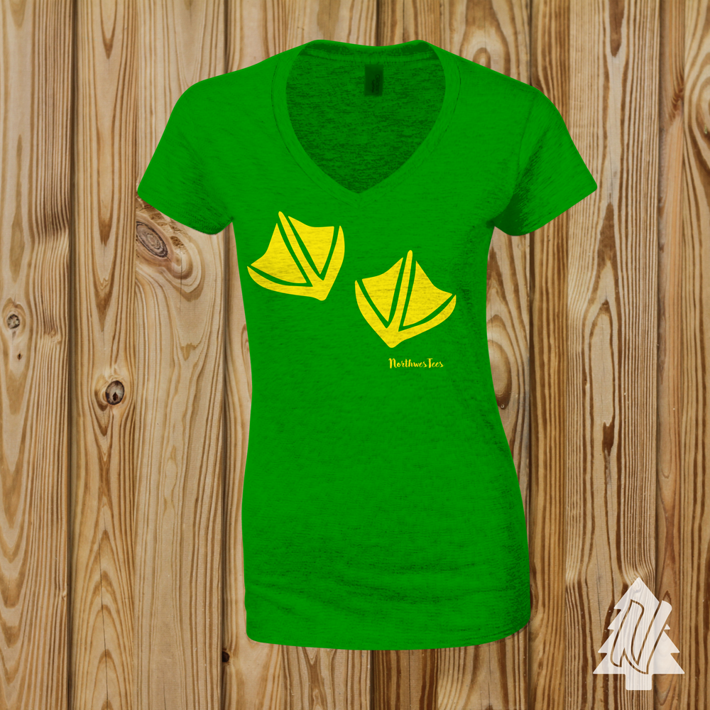 "Oregon ""Footprint"" Ladies Tee"