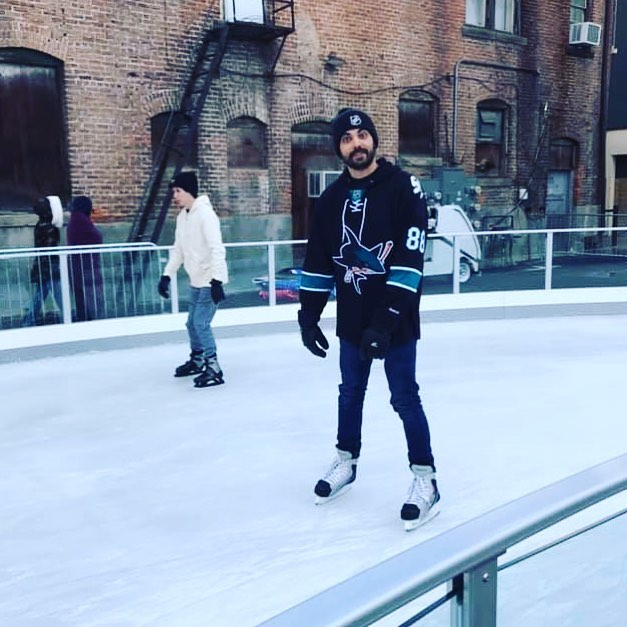 Ice skating outdoors? Yessir!