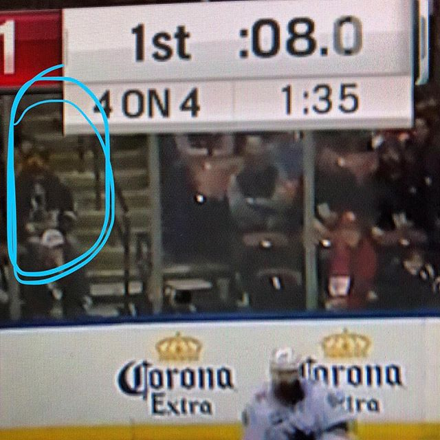 HI MOM!  Im on tv :) @sanjosesharks @flapanthers #sharksvpanters #authenticfan