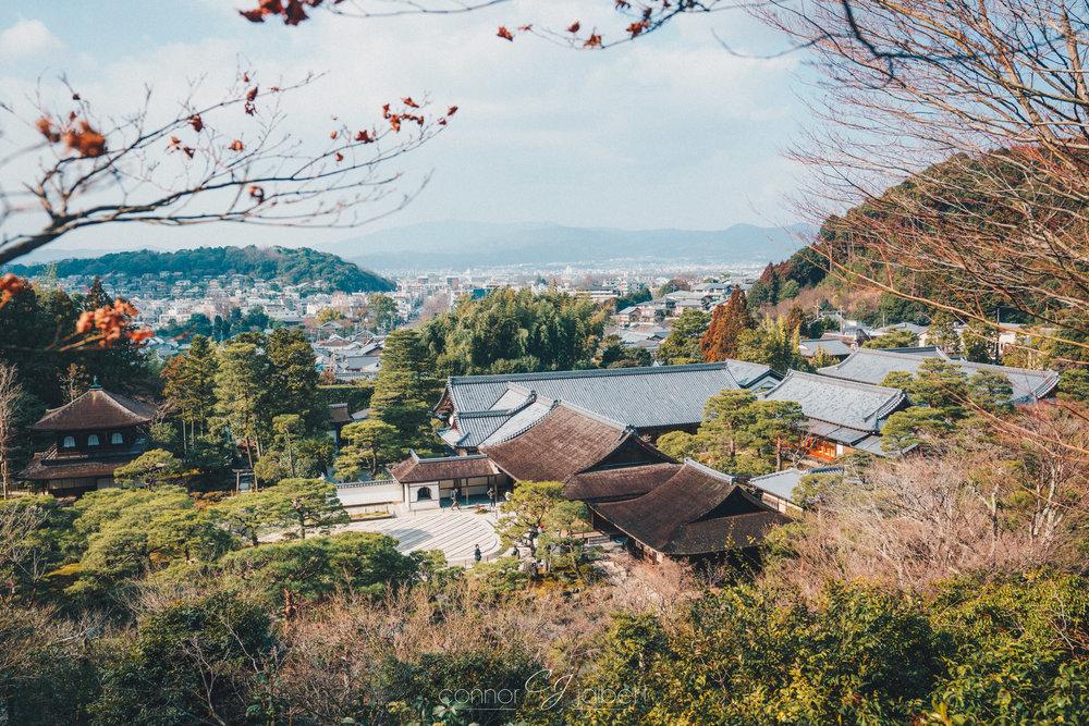 Ginkaku-ji overlooking Kyoto