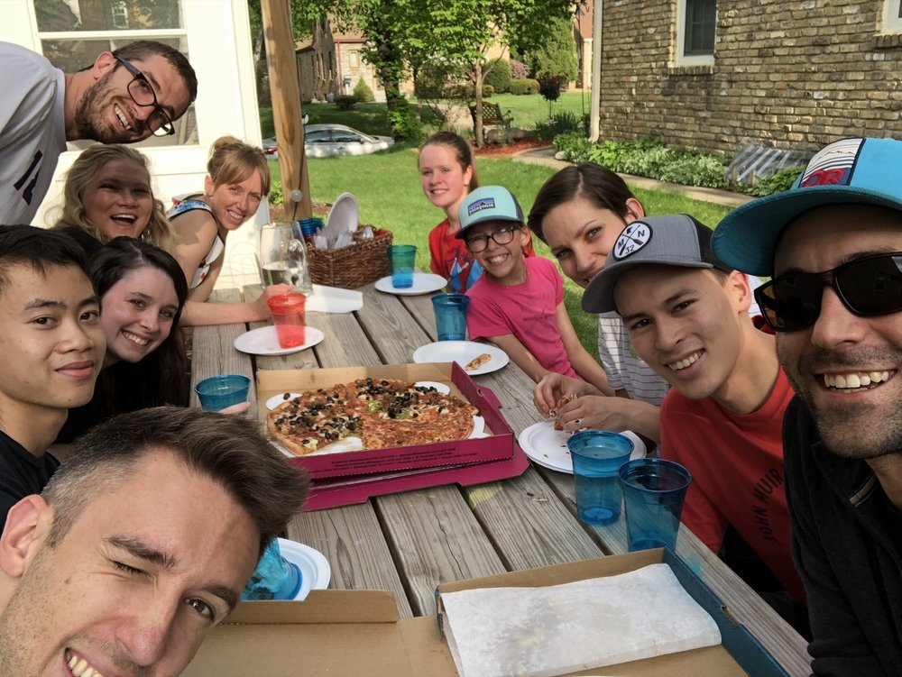 Pizza Party with Youth and Interns