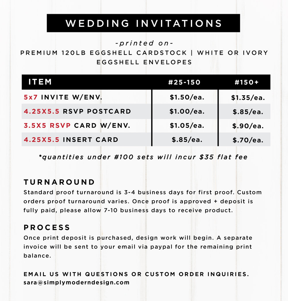 Tropical Wedding Invitation Set Simply Modern Design