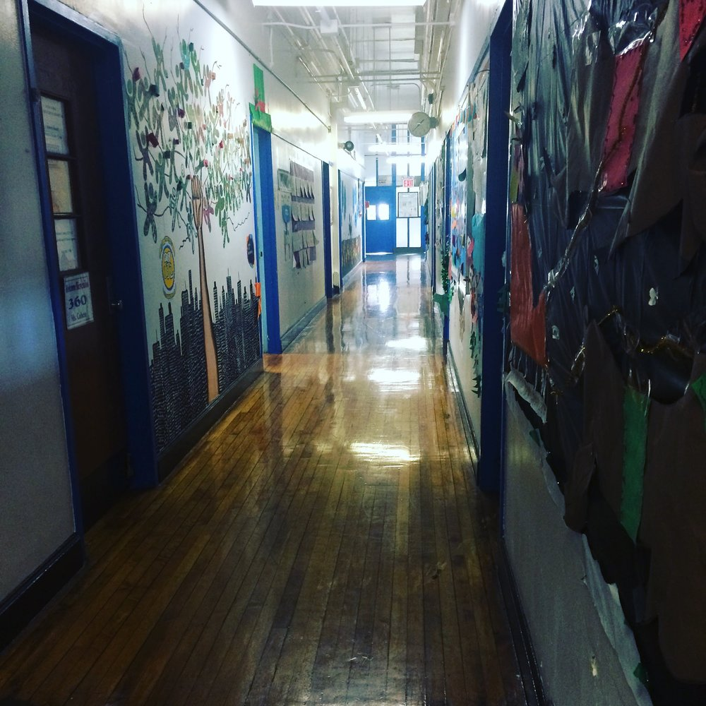 the bright energy of elementary school, where art is made daily