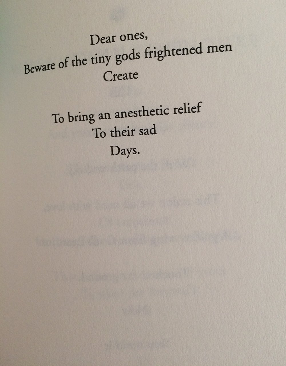 excerpt, from the Sufi poet Hafiz