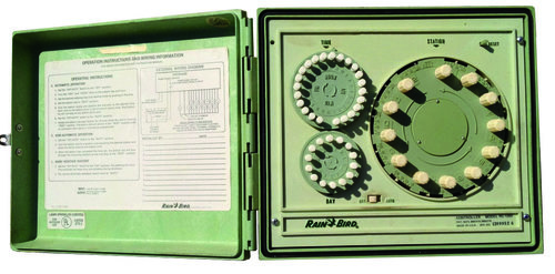 A commonly-used old mechanical controller. Image courtesy of Rain Bird, Inc.