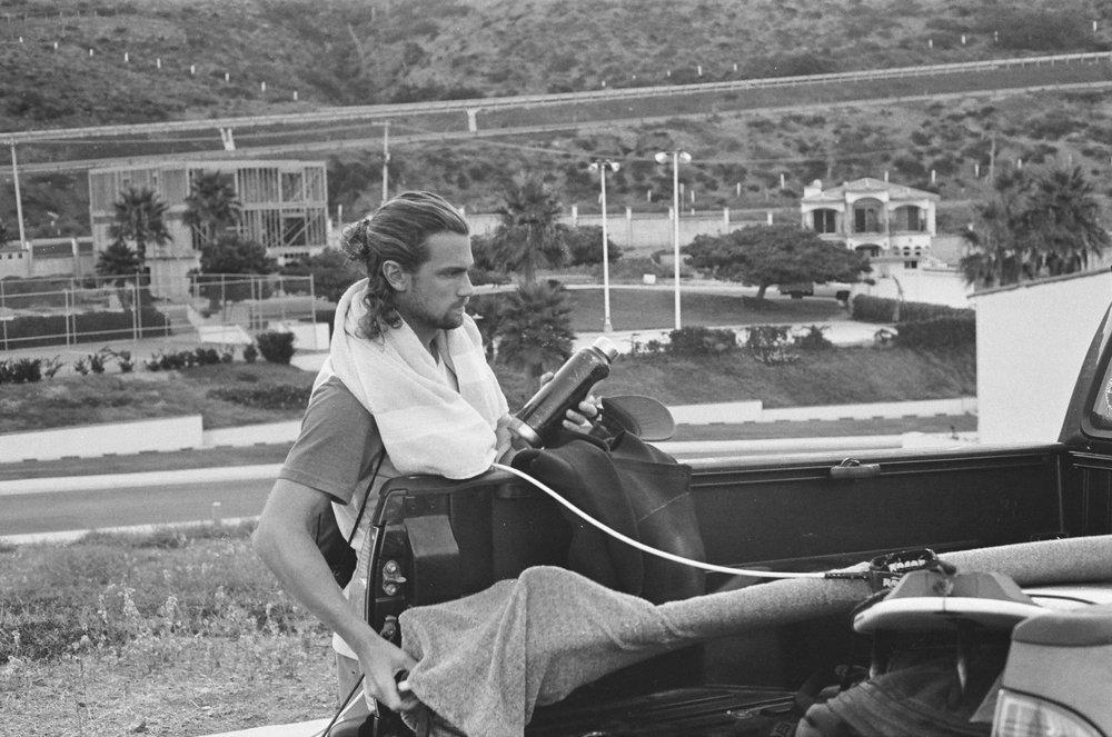 Jazz and his man bun.