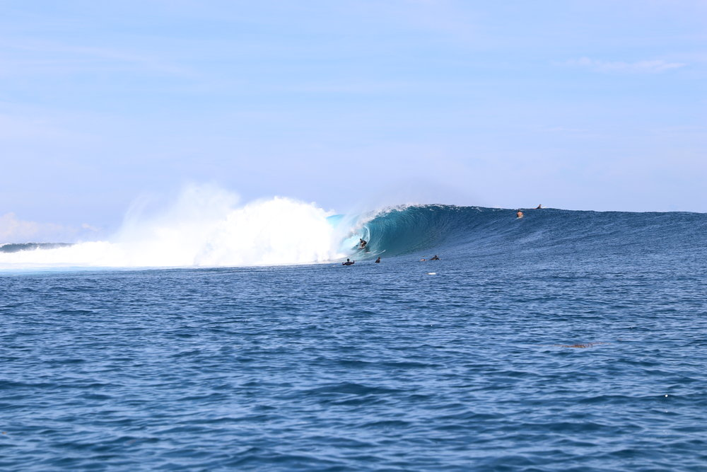 Some very solid Cloudbreak. This was right before the huge 20 year swell came. I surfed it this morning, got one proper one, and then got washed over the entire reef past the old comp tower and called it a day.