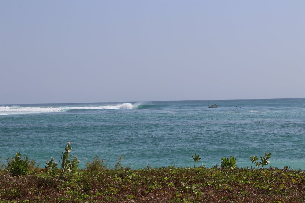 This is Super Sucks in Sumbawa. It's pretty fickle and transforms from the most calm, beautiful, picturesque bay into one of the hollowest, heaviest, draining barrels in indo.
