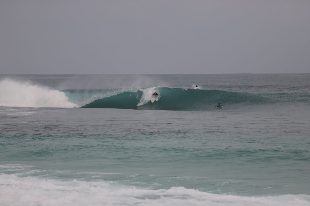I actually got my best wave of the trip at this spot in South Sumatra. You can kind of tell how square and shallow it was.