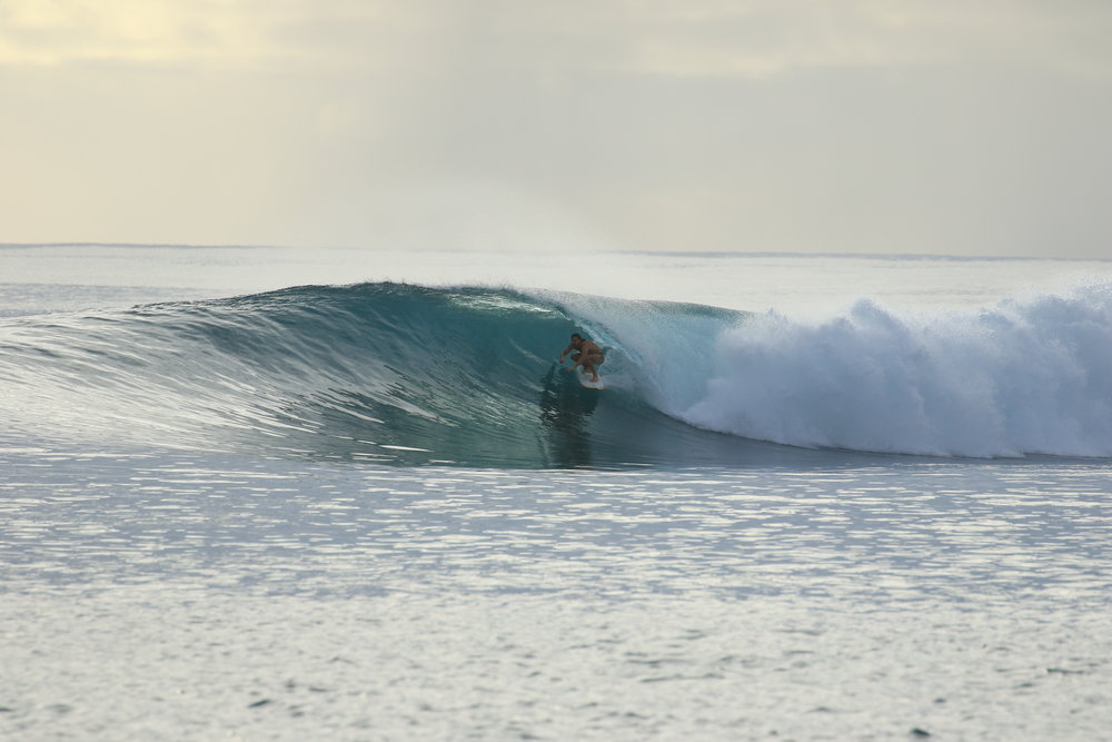 We spent 20 days at lances right. It's the epitome of perfection in the Mentawais for good reason. We had a couple bigger days here and at Lances Left that were perfect for the beer chug.
