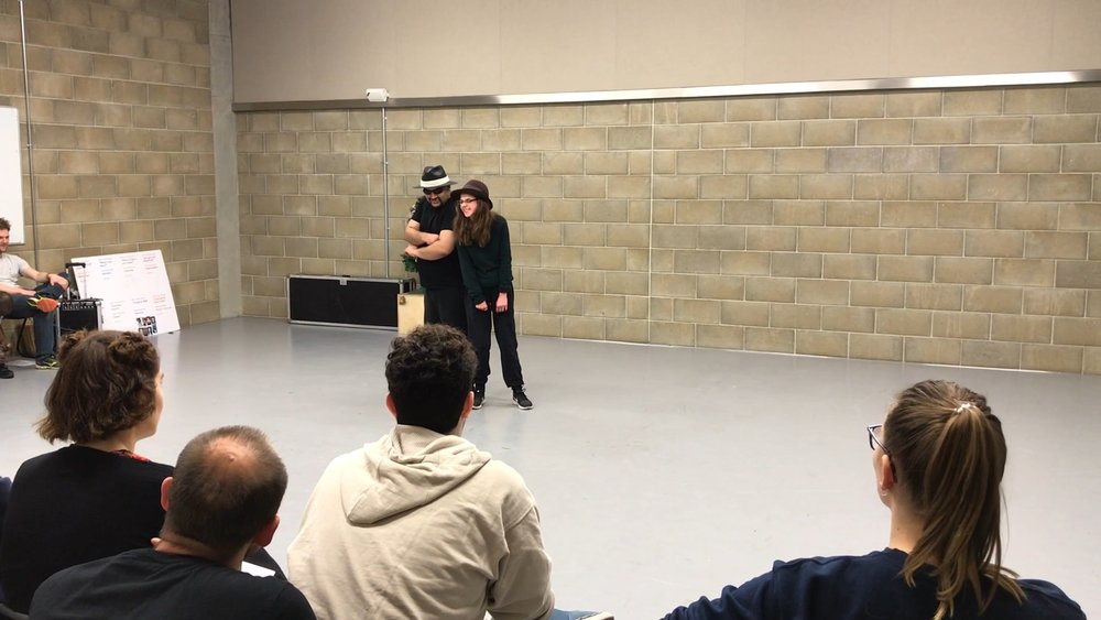 Highlights - We perform the highlights of our process together. The 'Don't Try This At Home' dance, the Kray twins, Talk to Hand improv and some clowning around.