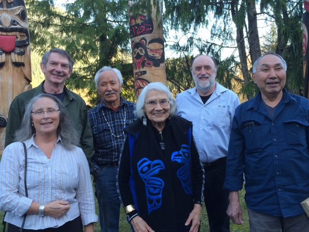 Some past Distinguished Artist Award recipients (from left): Teri Rofkar, Kes Woodward, Nathan Jackson, Delores Elizabeth Churchill, Ray Troll and Sylvester Ayek.