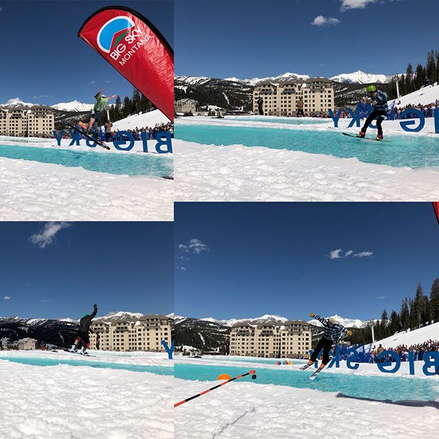 More fun photos from #pondskim2018! . . . #pondskim #bigsky #whiteclaw #snowboarding #skiing #bigskyresort #sunny #beautiful #skills #montana