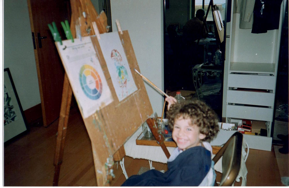 Discovering the joy of painting, circa 1996