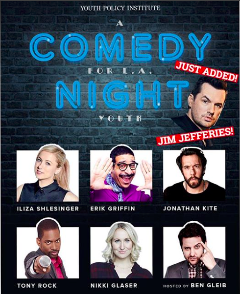 I have put together a KILLLLLER lineup of my comedian friends to raise funds for an amazing charity, YPI which helps LA youth and their families from birth through college and career. Iliza Shlesinger! Erik Griffin! Nikki Glaser! Tony Rock! Jonathan Kite! And more being added! It's just $40 to help the kids in our city. Get ur tix right now at ypi.org/comedynight they are going fast.