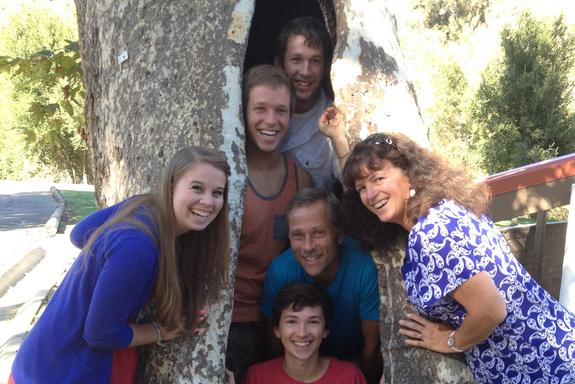 My family: sons Joshua, Benjamin, Jacob, wife Alyssa, and daughter-in-law Melissa.