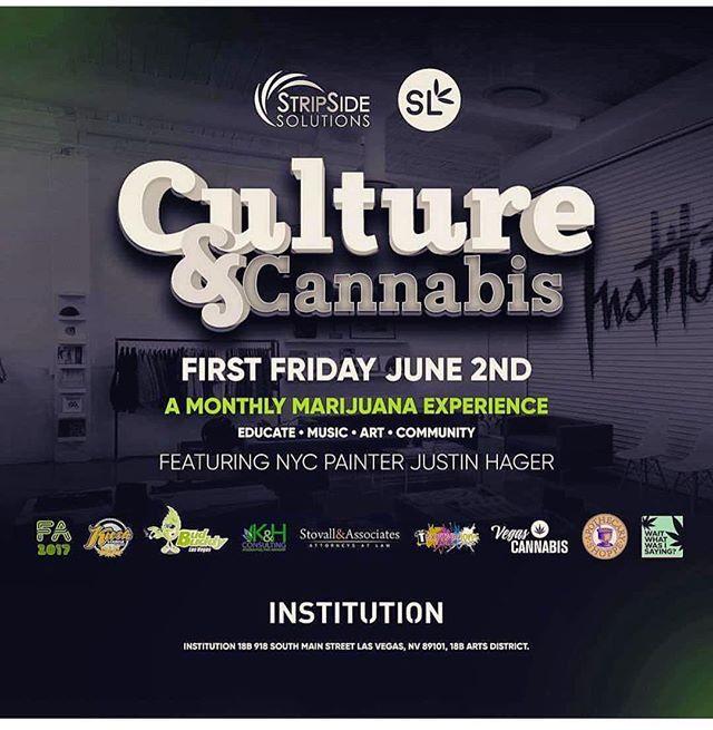 This Friday! #DTLV with @cultureandcannabislasvegas featuring NYC #artist @justinhager Sponsored by @suiteleaf #FutureArts #420 #painting #contemporaryart #vegas @stripsidesolutions