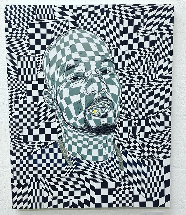 Get this amazing piece #LSDMX by @justinhager at @institution18b #Vegas #artist #DTLV #futureartsfest #canvas