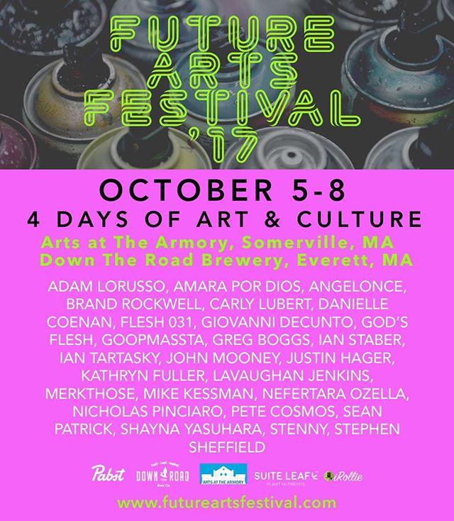 🎨🍾😎Hope to see u there in October! #FutureArtsFest #Boston #Artist #streetart #contemporaryart #graffiti #mural #artgallery #art