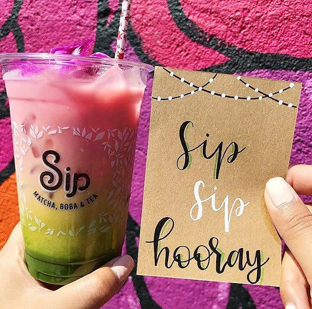 Sip Sip Hooray for another Smorgasburg Sunday! We're here until 4PM, or you can catch us in Westwood or Rowland Heights! Whereever you may find us, we can't wait to see you! #sipmatcha #backtobasips  Pic: @stephanie_letters