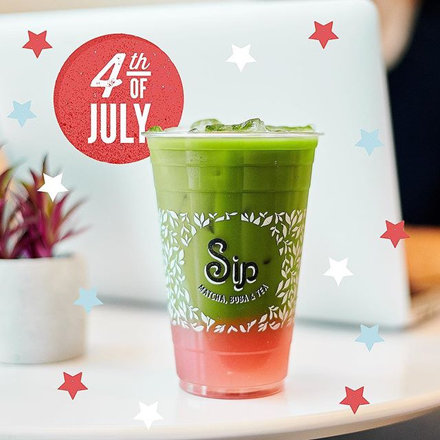 Bring on the fireworks... and the matcha (because we're open today)! Happy 4th of July from your friends here at Sip. 🇺🇸 As an American company, we're proud to call this our home and want to thank everyone that has put their life on the line so that we can live in freedom. If it weren't for the sacrifices that our families, as well as countless others, have made, we wouldn't be able to live the lives we have and pursue our passions. Sip is our own little American dream, and we feel so blessed to be able to share something so dear to our hearts with you!  We'll be open from noon to 10PM tonight at both our Westwood and Rowland Heights locations.