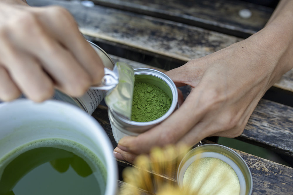 Emerald Green - Our matcha is imported from Japan and ground in traditional stone mills to produce a fine green powder made purely from matcha tea leaves. Inside our Sip Matcha Tins, you'll find our emerald green Daily Ceremonial Matcha — exactly the way high quality matcha should look.