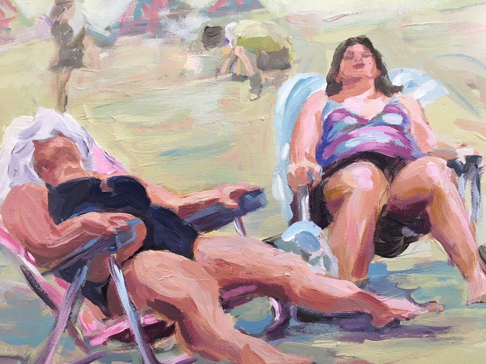 Sunbathers 11 x 14