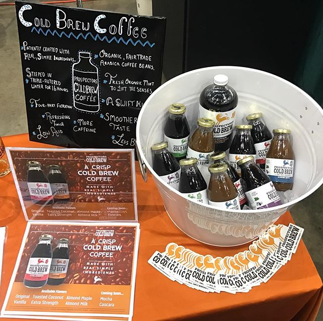 Kicking things off early today at the Made in Michigan expo in Lansing. Open to the public after noon, stop by and grab a cold brew! . . . #madeinmichigan #michiganfood #coldbrewcoffee #coldbrew #coffee #prospectorscoldbrew