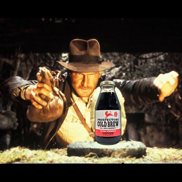 When you're worried about adding some cold brew into a tight budget... . . . #prospectorscoldbrew #coldbrew #coldbrewcoffee #reallygoodphotoshop #indianajones #coffee #caffeine #coffeelife #smartchoices #worthitsweightingold