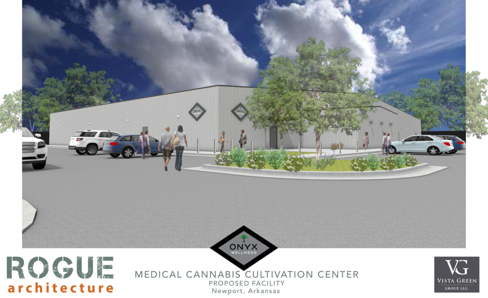 ONYX Wellness Center - Proposed medical cannabis cultivation center near Newport, Arkansas. Construction to begin mid 2018.