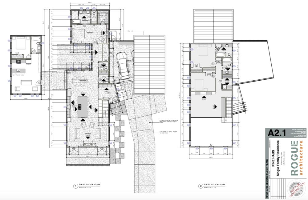 Custom Architect designed single family residence for a family of four.