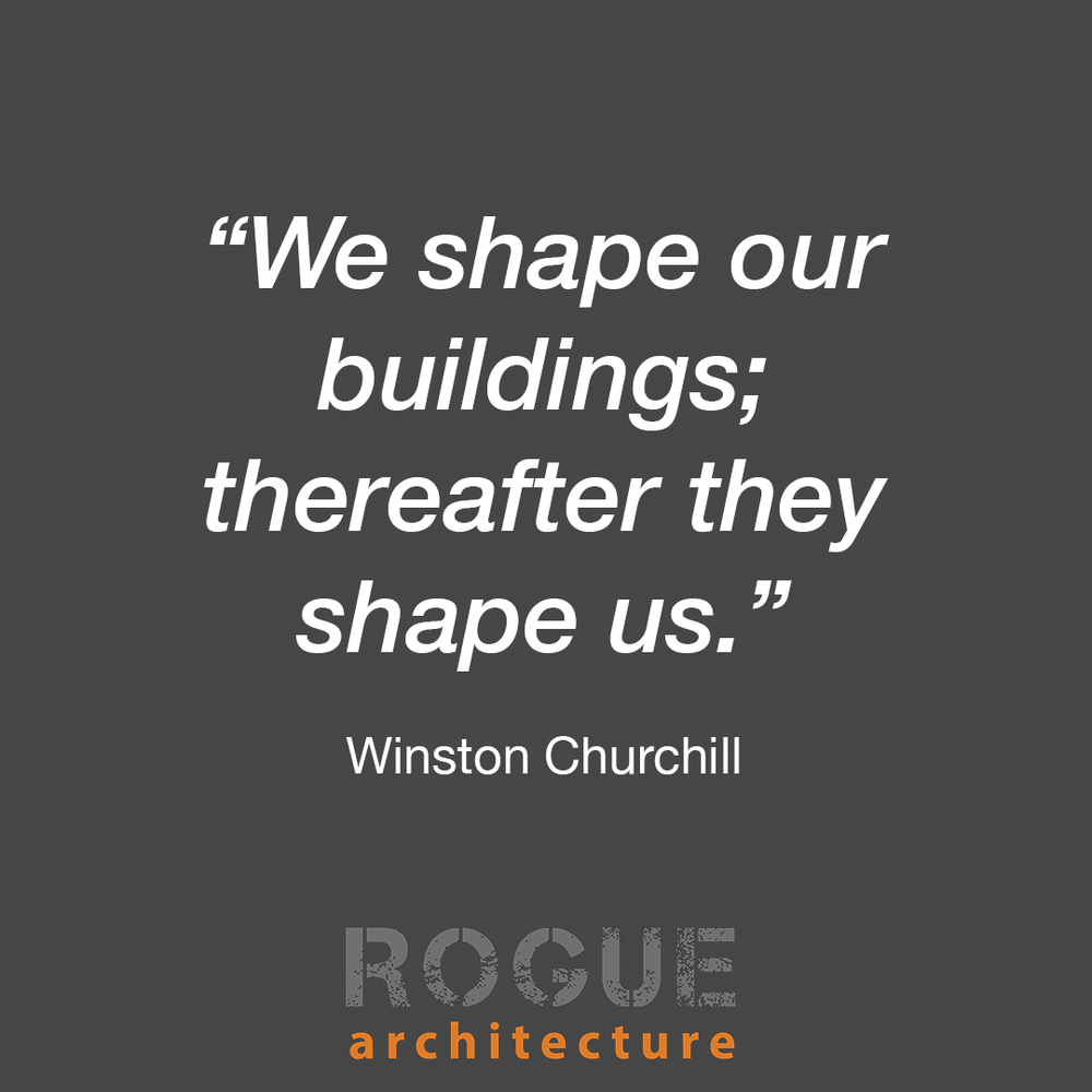 """Building Places - In 1943, after the destruction of the Commons Chamber in London during the Blitz, Parliament debated rebuilding the chamber but could not at first decide on its shape - austere and rectangular or inviting and semi-round. The vote for austere and rectangular won and Winston Churchill is quoted as saying during the debate that """"we shape our buildings; and thereafter they shape us."""" In this context he was referring to the need to uphold and maintain the two party system within Parliament, but for architects it is a bold and clarifying reflection of the need to consider the effects of our architecture not just on a site, but on the larger context of society as a whole. Architects design buildings and those buildings in turn work to design society."""
