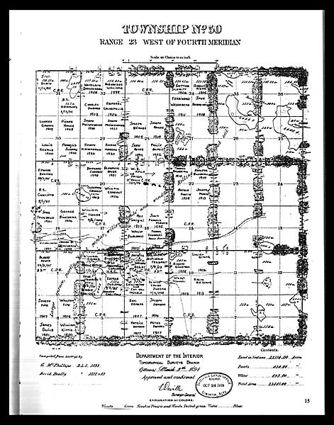 Map of Beaumont (Township 50), 1883