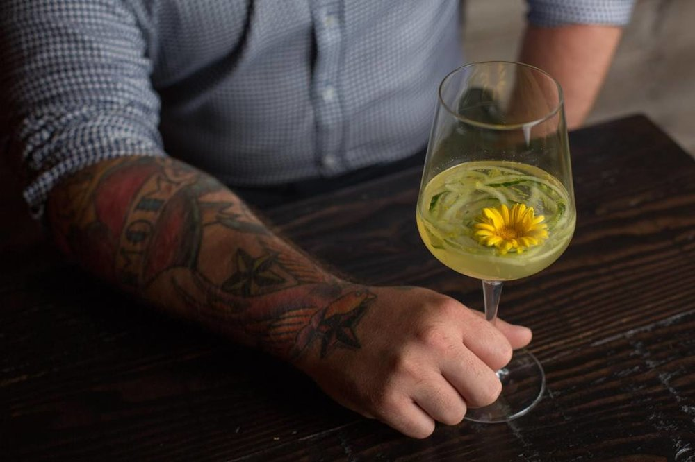 Sangria with an edible flower.    AMBER BRACKEN/FOR THE GLOBE AND MAIL