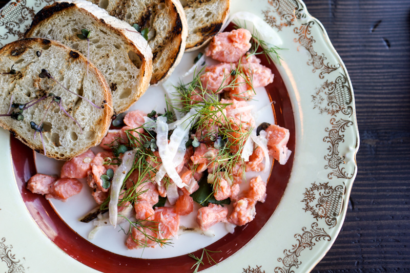 Coho Salmon Ceviche. PHOTO BY LET'S OM NOM.
