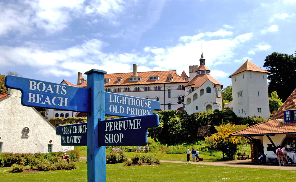 Caldey Abbey and signpost copy.jpg