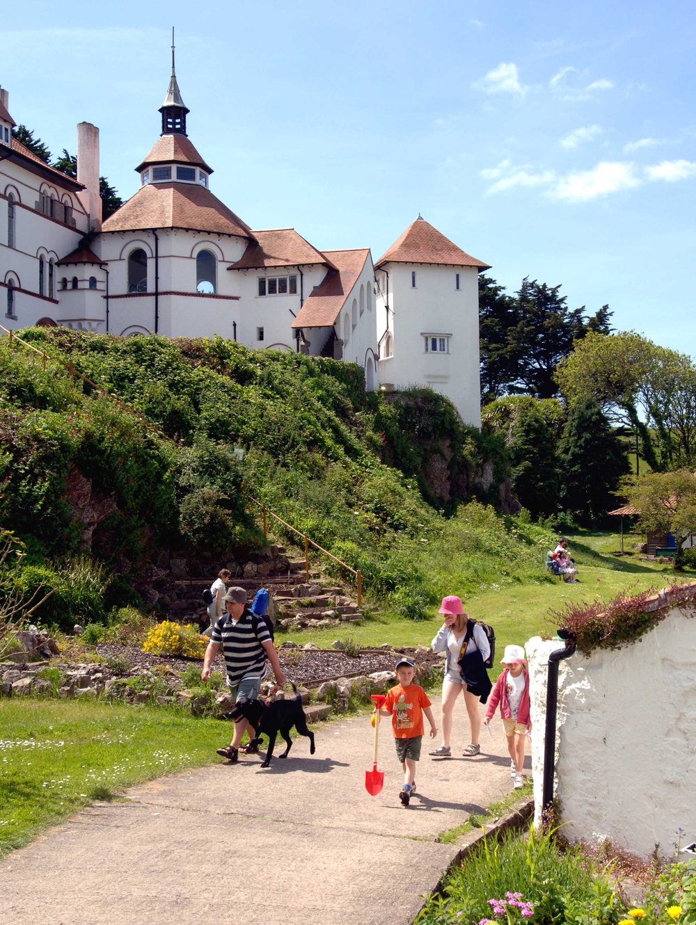 Caldey Abbey and village.jpg