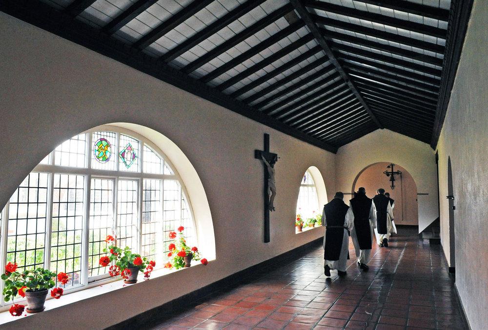 Caldey Monks in Cloisters.jpg