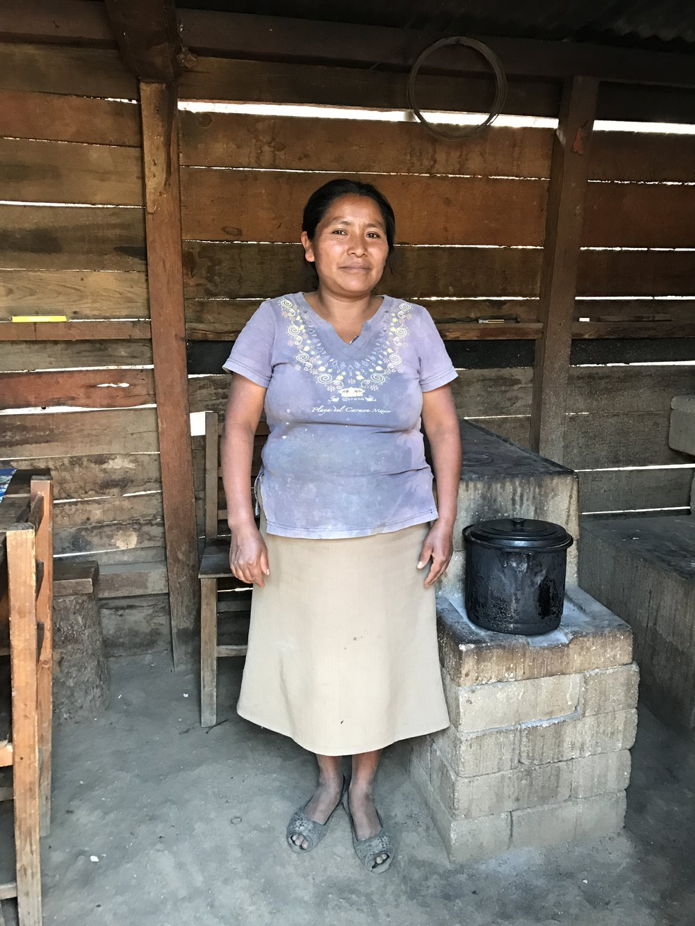 ONIL Stove user in Mexico visited during a verification site visit in 2017.