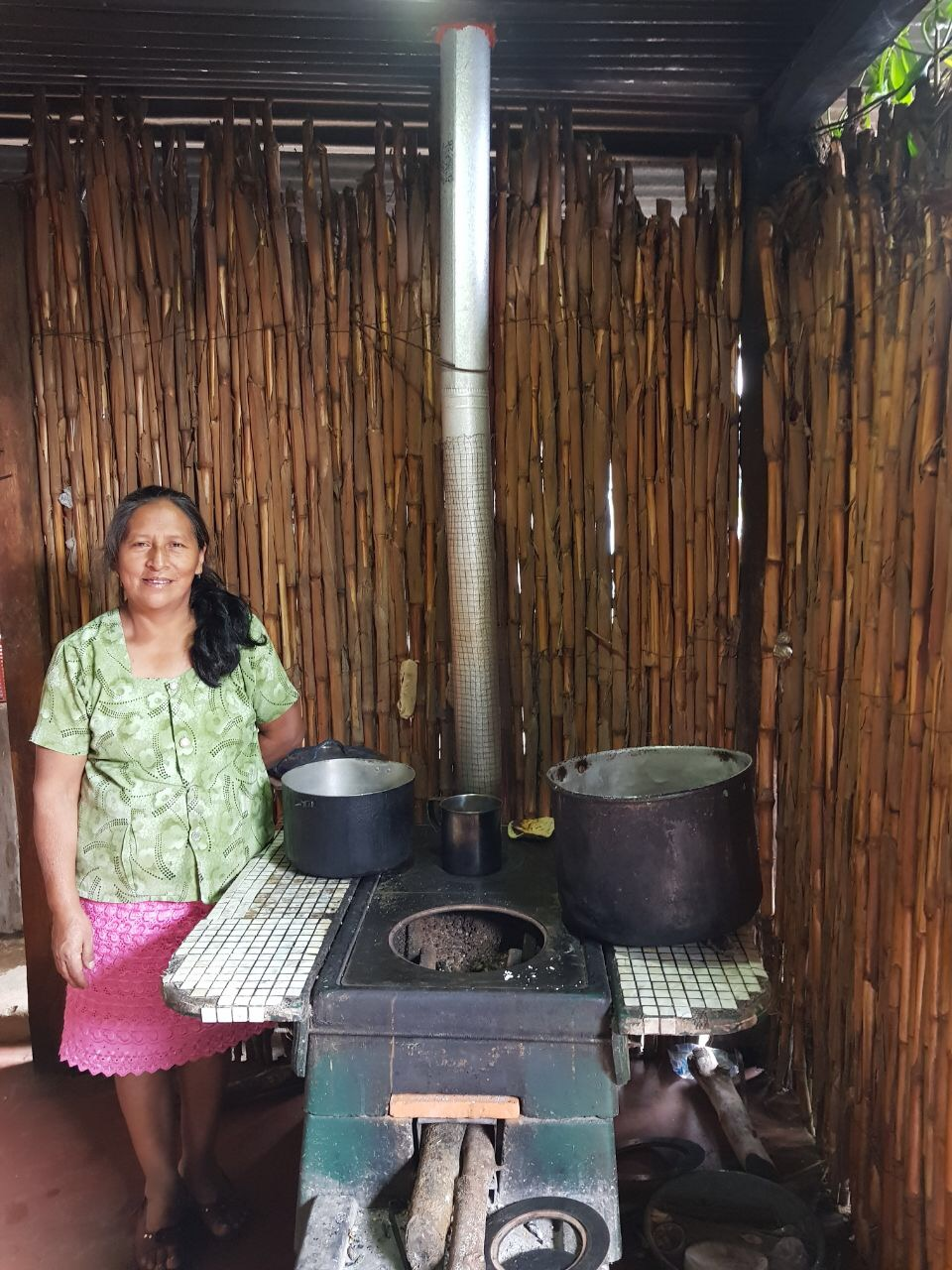 ONIL Stove user in Guatemala visited during a verification site visit in 2017.