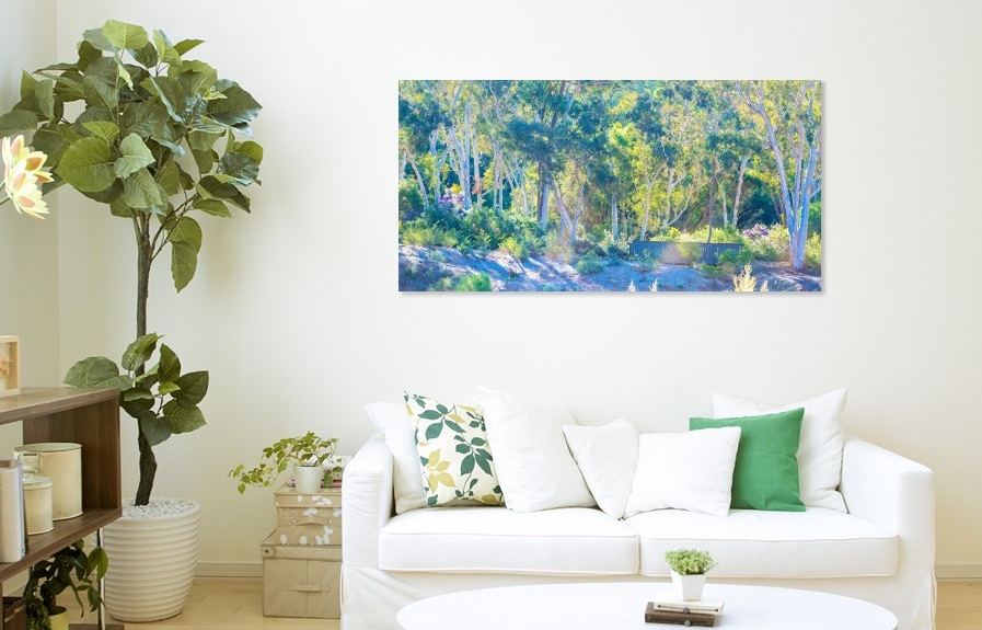 Canvas - Printed on quality fine art canvas using Epson ultracrome inks. The canvas is then coated with laminate to protect from UV fading and dust build up. Each canvas print is then expertly hand stretched on custom cut Australian pine stretcher bar and finished off with plastic coated wire for hanging.