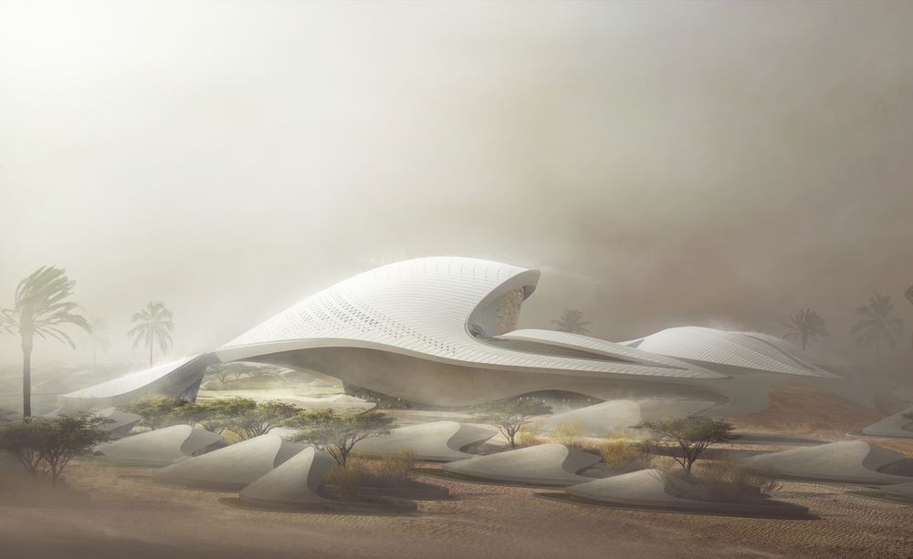 Bee'ah Headquarters by  Zaha Hadid Architects    Sharjah - United Arab Emirates Render ©  MIR